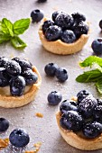 Blueberry tarts with sugar