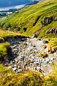 Landslip, Mines Gill, Lake District, UK