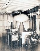 Tesla's wireless energy transmission, 1890s