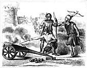 15th Century English archer, 19th Century illustration