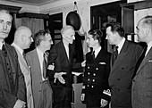 Tesla meets King Peter II of Yugoslavia, 1942