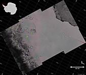 Larsen C ice shelf rift, satellite image