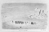 Polaris Arctic expedition, illustration