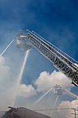 Warehouse fire, USA