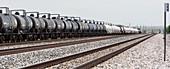 Freight train, New Mexico, USA