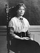 Emmeline Pankhurst, British suffragette leader