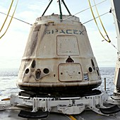 Recovery of SpaceX CRS-10 Dragon spacecraft, 2017