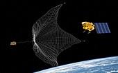 e.Deorbit space debris removal mission, illustration