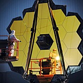 James Webb Space Telescope mirror inspection