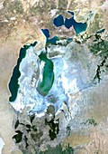 Aral Sea in 2014, satellite image