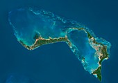 Grand Bahama and Abaco Islands, Bahamas, satellite image