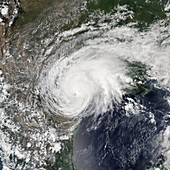 Hurricane Harvey over Texas, USA, satellite image