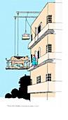 Cartoon by W. Heath Robinson