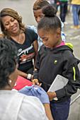 Free medical clinic, Detroit, USA