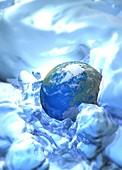 Global warming, illustration