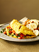 Tomato Omelette with Basil