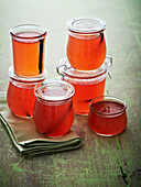 Rhubarb jelly with vanilla