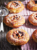 Danish pastries with apples and elderberries