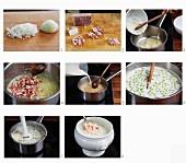 Erbsensuppe mit Speck zubereiten