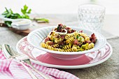 Fusilli with leek and salsiccia