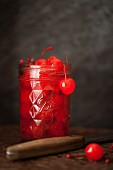 Maraschino Cherries in a jar