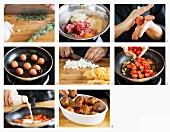 Frikadellen mit Käse und Tomaten zubereiten