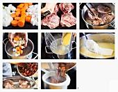 Kalbsbäckchen mit Polenta zubereiten