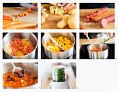 Karotten-Kartoffel-Eintopf mit Wurst zubereiten