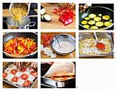 Makkaroniauflauf mit Paprika zubereiten