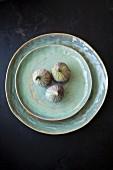 Three figs on plate