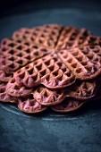 Vegan raspberry waffles