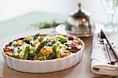 Gnocchi with asparagus and ham