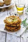 Potato rostis with rosemary