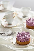 Blackcurrant tarts and tea