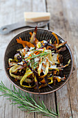 Root vegetable tagliatelle