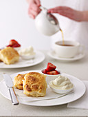 Buttermilk Scones with Strawberries and Cream