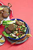 Pecan Faelafels with Fattoush Salad