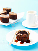 Fudge Cakes with Coffee Syrup