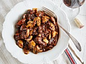 Boeuf Bourguignon with mushrooms (France)