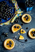 Blackcurrant tartlets with jelly glaze