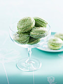 Pistachio and Orange Blossom Macaroons