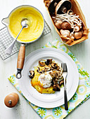 Poached Egg with Polenta and Mushrooms