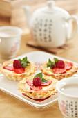 Singapore tarts served with tea