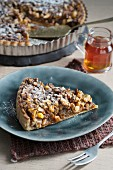 Brown butter pie with pecan and macadamia nuts