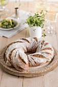 Olive, lemon and thyme rye ring