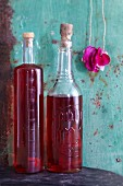 Homemade rose vinegar