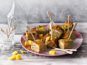 Exotic coconut frittata with prawns