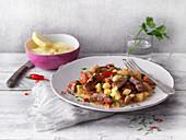Ananas-Schweine-Curry mit Kokosmilch