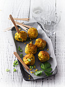 Vegan tofu and coconut balls