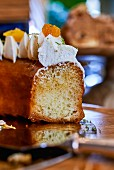 Rum baba with orange